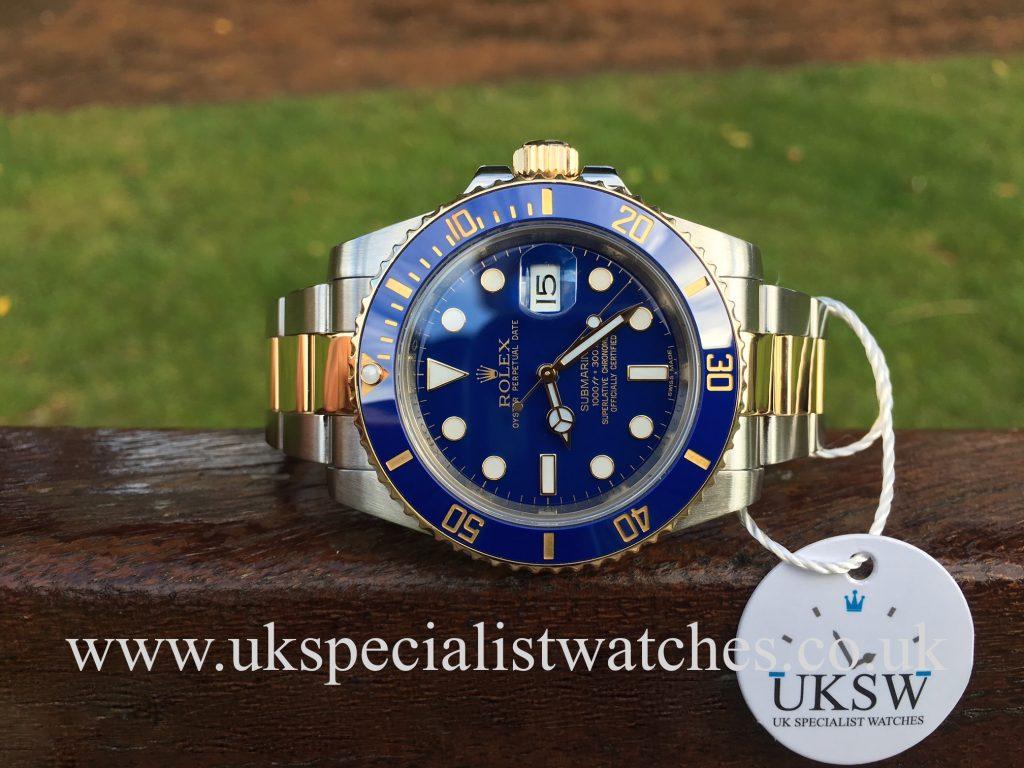 Rolex Submariner – Steel & Gold – Blue Smurf Dial – 116613LB
