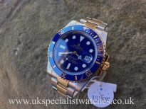UK Specialist Watches have a Smurf Dial Rolex Submariner 116613LB in steel and 18ct yellow gold.