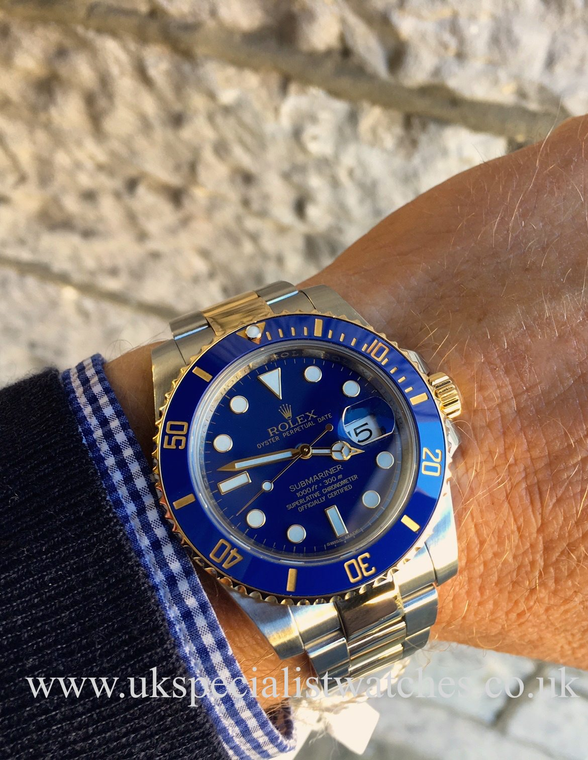 Rolex Submariner - Steel & Gold - Blue Smurf Dial ...