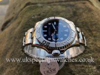 UK Specialist Watches have a Rolex Yacht-Master Blue Dial Platinum Bezel – 116622