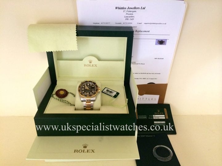 2013 new model Rolex GMT-Master II in Gold & Steel with the new Ceramic bezel