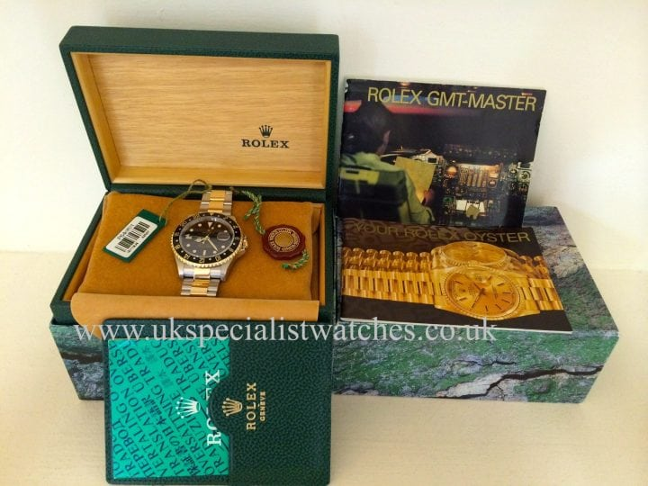Stunning old model Rolex GMT II in Steel & Gold model ref no is 16713