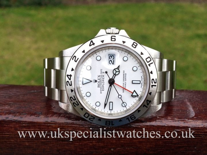 This absolutely stunning Rolex Explorer II Dual Time 16570 - Final Edition 2014