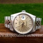 UK Specialist watches has for sale Rolex Date-Just 16220 36mm 'Jubilee Bracelet'