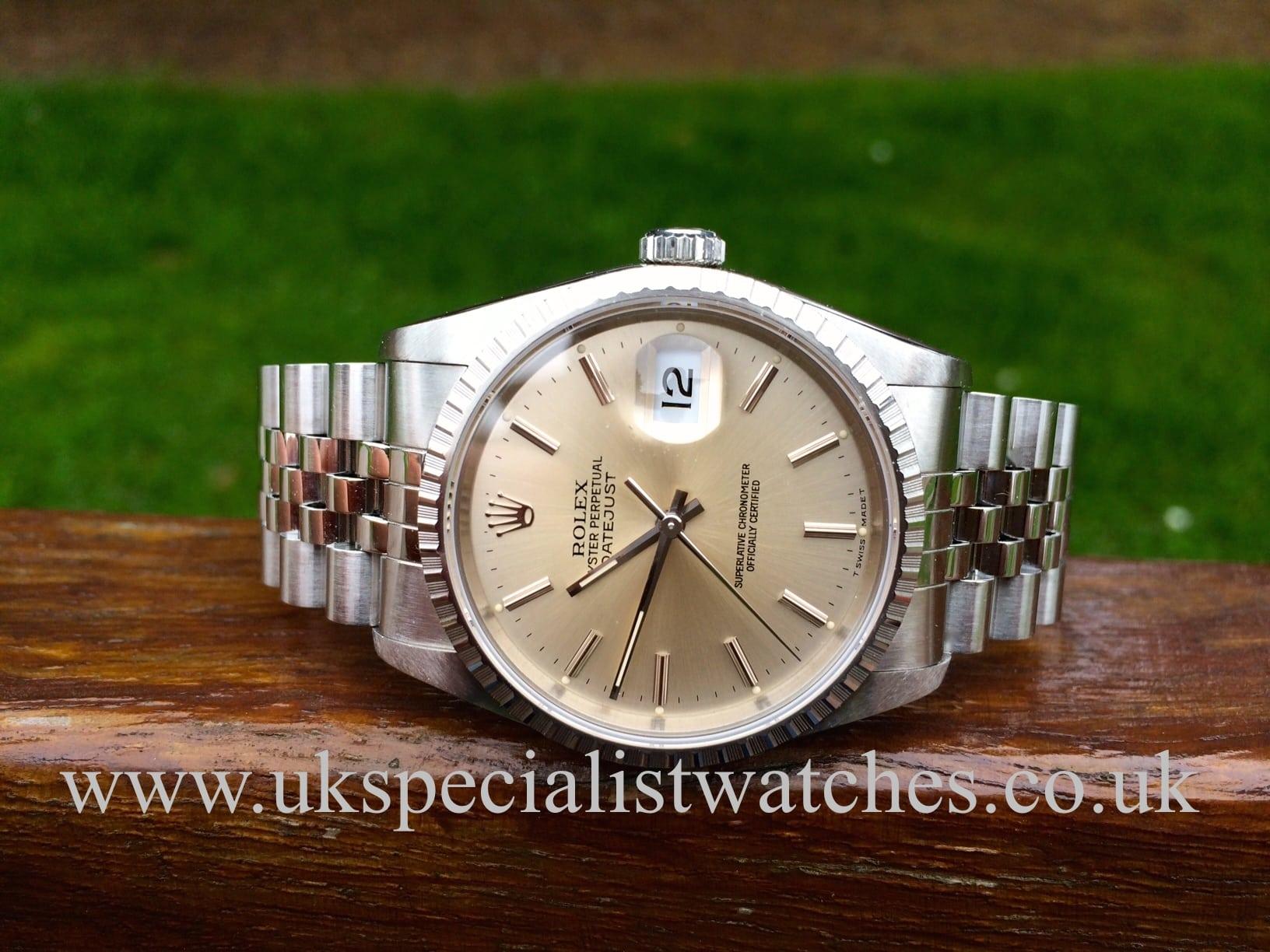 Rolex Date-Just 16220 36mm - Jubilee Bracelet