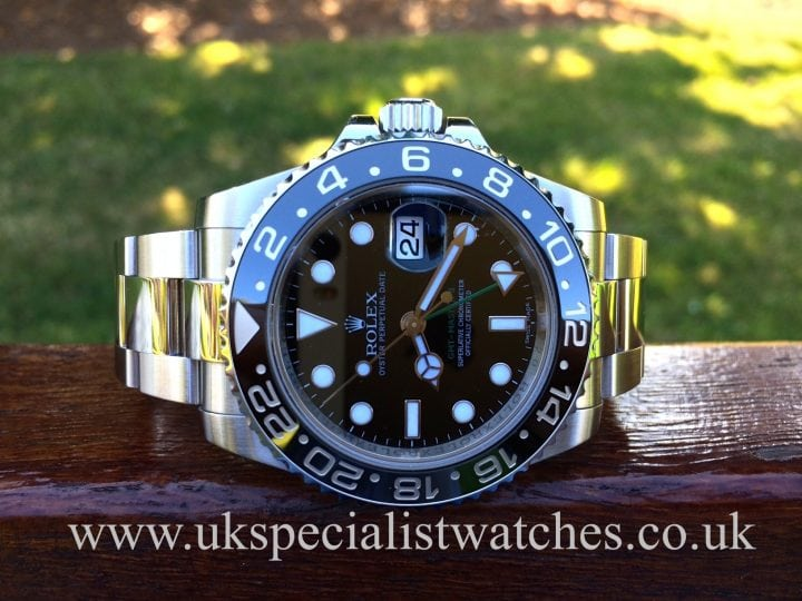 latest model Rolex GMT-Master II with the Ceramic Bezel-116710LN