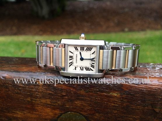 uk specialist watches have a stunning ladies Cartier Tank Francaise Steel & Gold