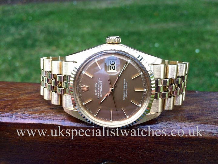 Stunning vintage Rolex Date-just 18ct Gold sold new back in 1969