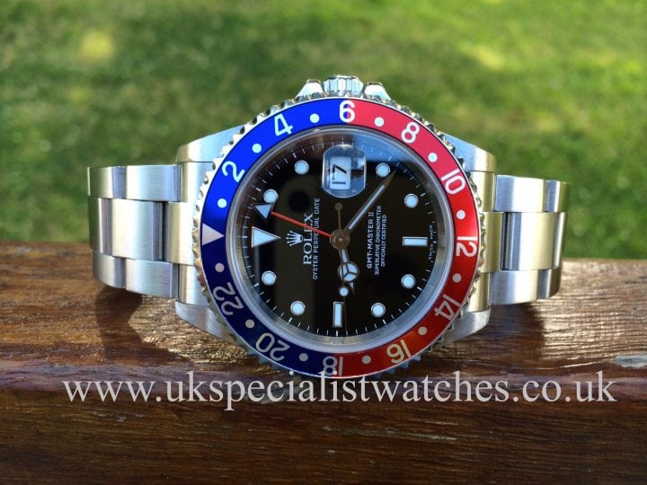 UK specialist watches have a immaculate Rolex GMT Pepsi Bezel