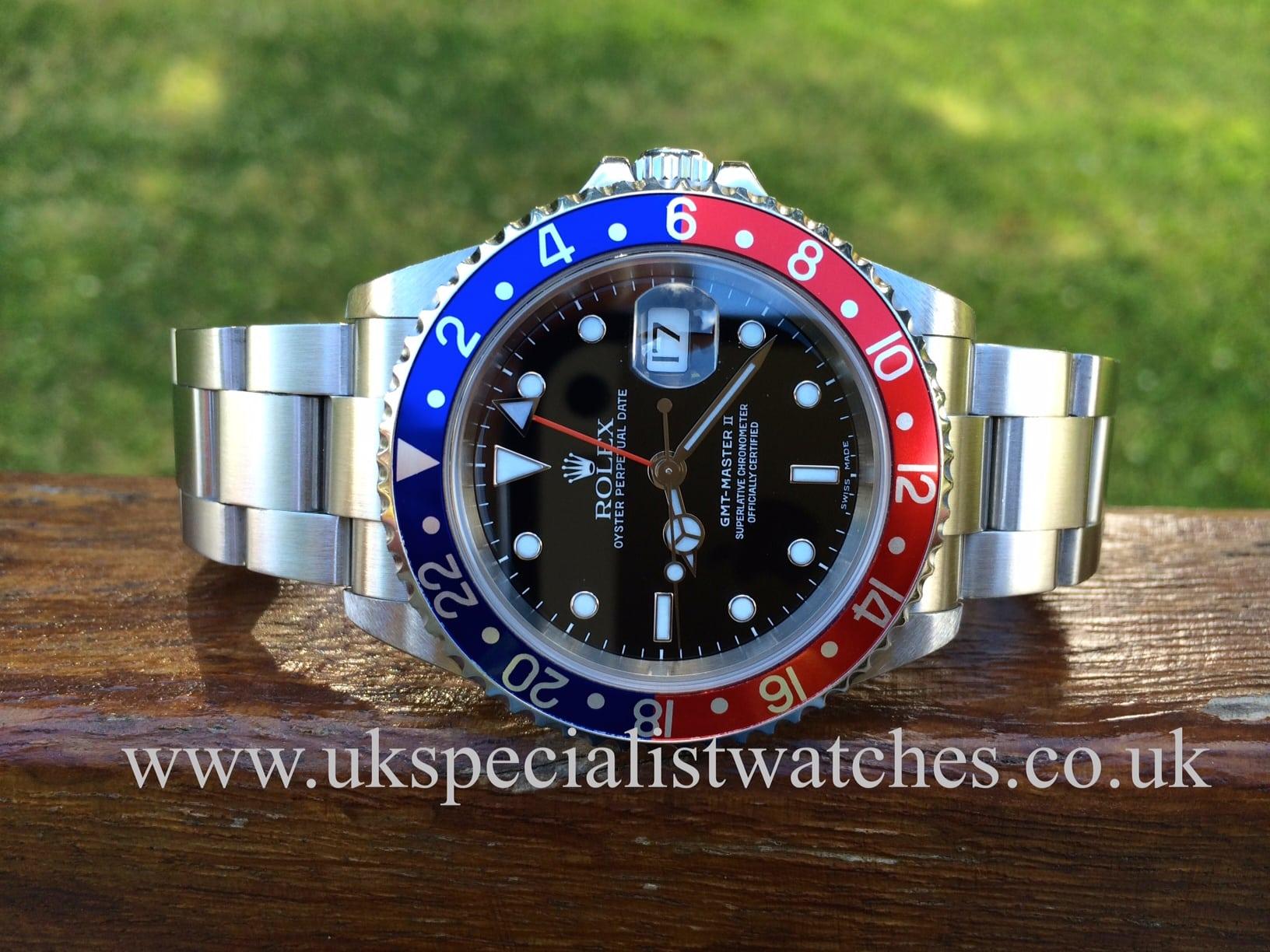 Rolex GMT Master II Steel 16710 Pepsi bezel