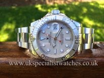Rolex Yachtmaster with the Platinum bezel Gents full size 40mm