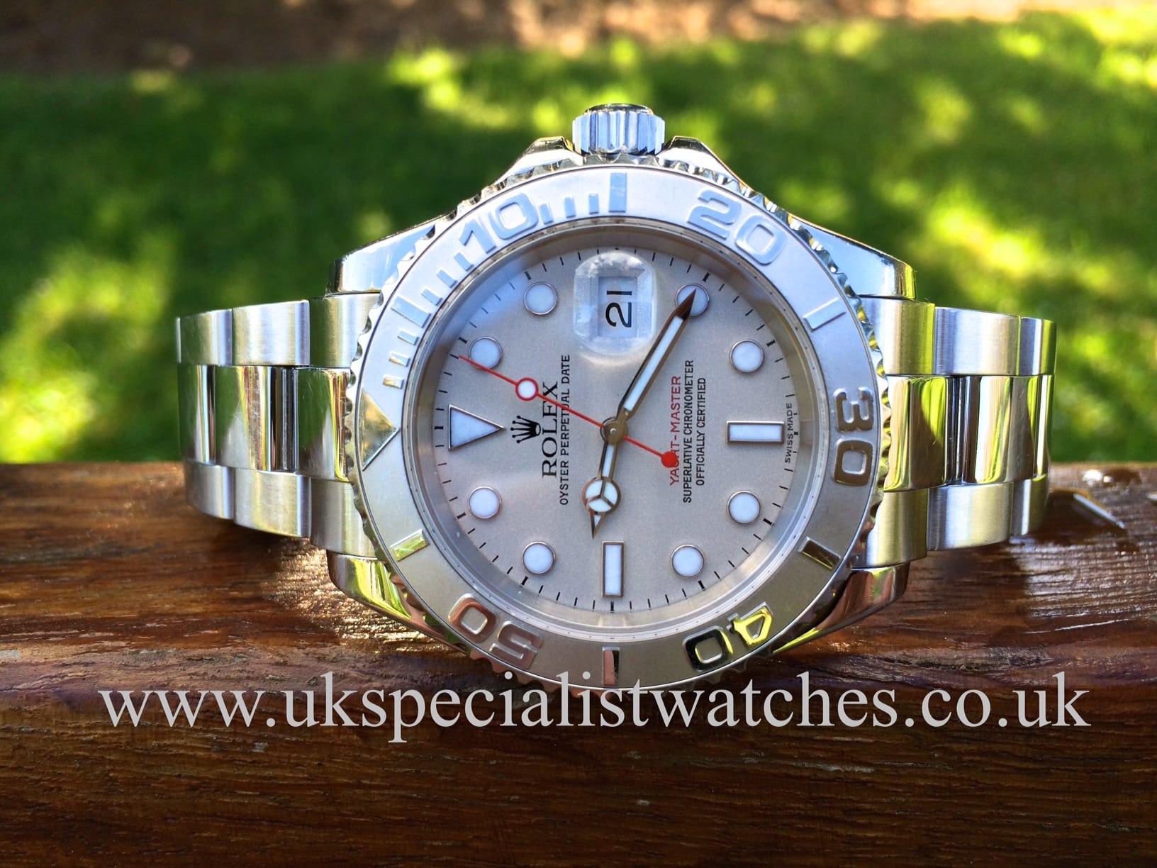 Rolex Yachtmaster Gents 40mm Platinum Bezel 16622