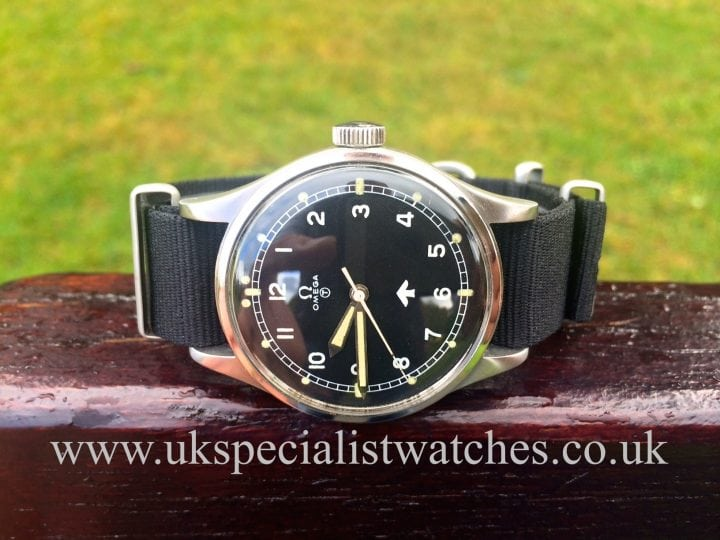 This Vintage Omega military watch from 1953 made for the British Royal Air Force,only 5900 pieces were produced for pilots & officers.