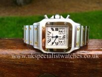 a very rare Cartier Santos Galbee chronograph for sale at uk specialist watches