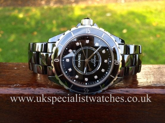 UK specialist watches have a Black Ceramic Chanel J12 Automatic 38mm unisex watch - H1626