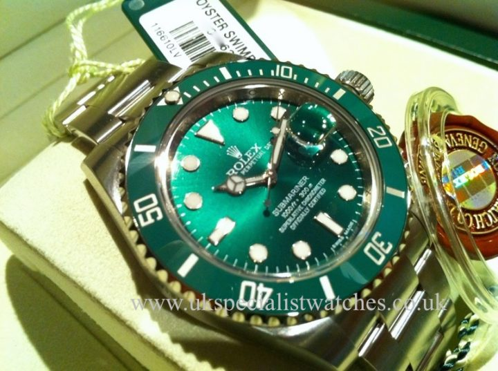New Model Rolex Submariner Hulk with a Green Ceramic Bezel