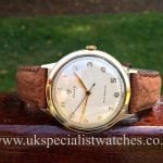 For sale at UK Specialist Watches a 9 ct Gold Vintage Rolex Shock Resisting 36mm a beautiful Vintage 1952 Rolex