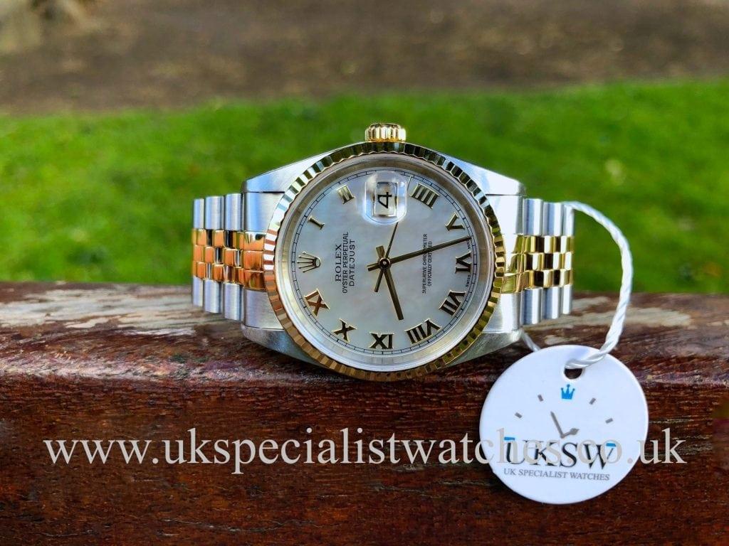 Rolex Datejust 18ct Gold & Steel – MOP Dial – 16233