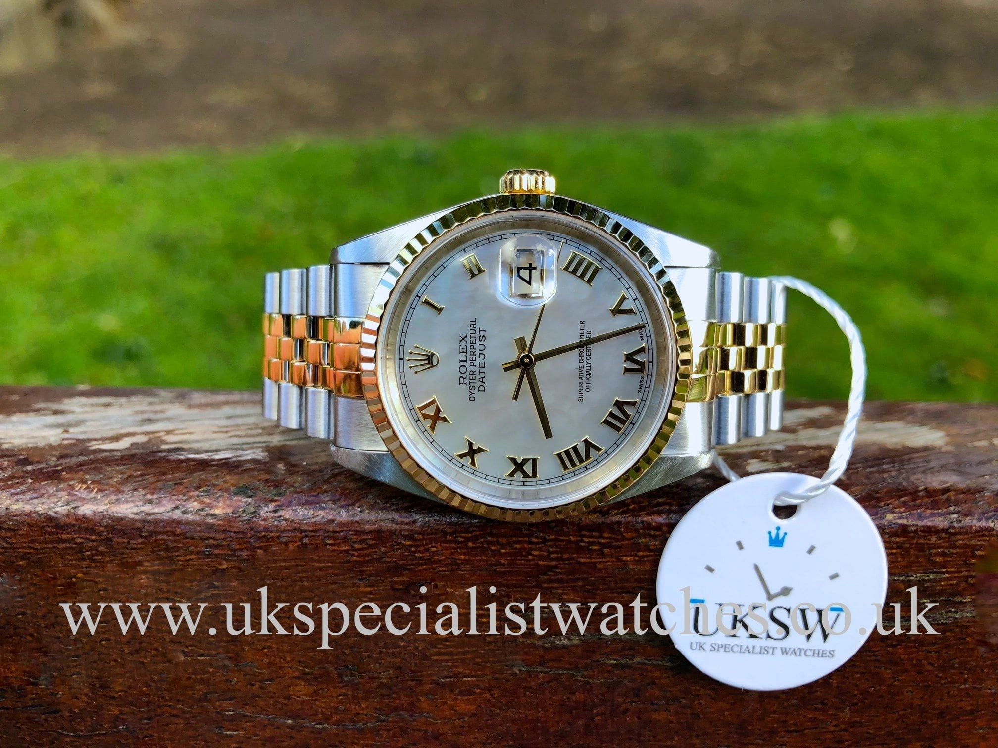 d705f771dc5 UK Specialist Watches have a Rolex Datejust 18ct Gold & Steel – MOP Dial –  16233