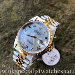 UK Specialist Watches have a Rolex Datejust 18ct Gold & Steel – MOP Dial – 16233
