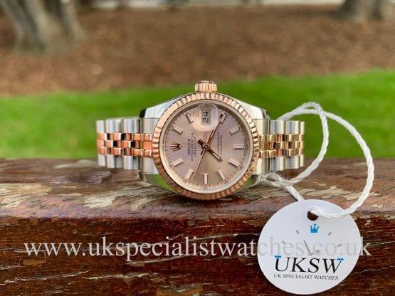 Rolex Lady-Datejust – Steel & 18ct Rose Gold – 179171