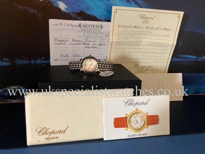 Chopard Happy Sport - Steel - 7 Diamonds - 27/8236
