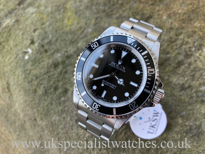 UK Specialist Watches have a Rolex Submariner Non-Date – Steel – 14060– Full Set