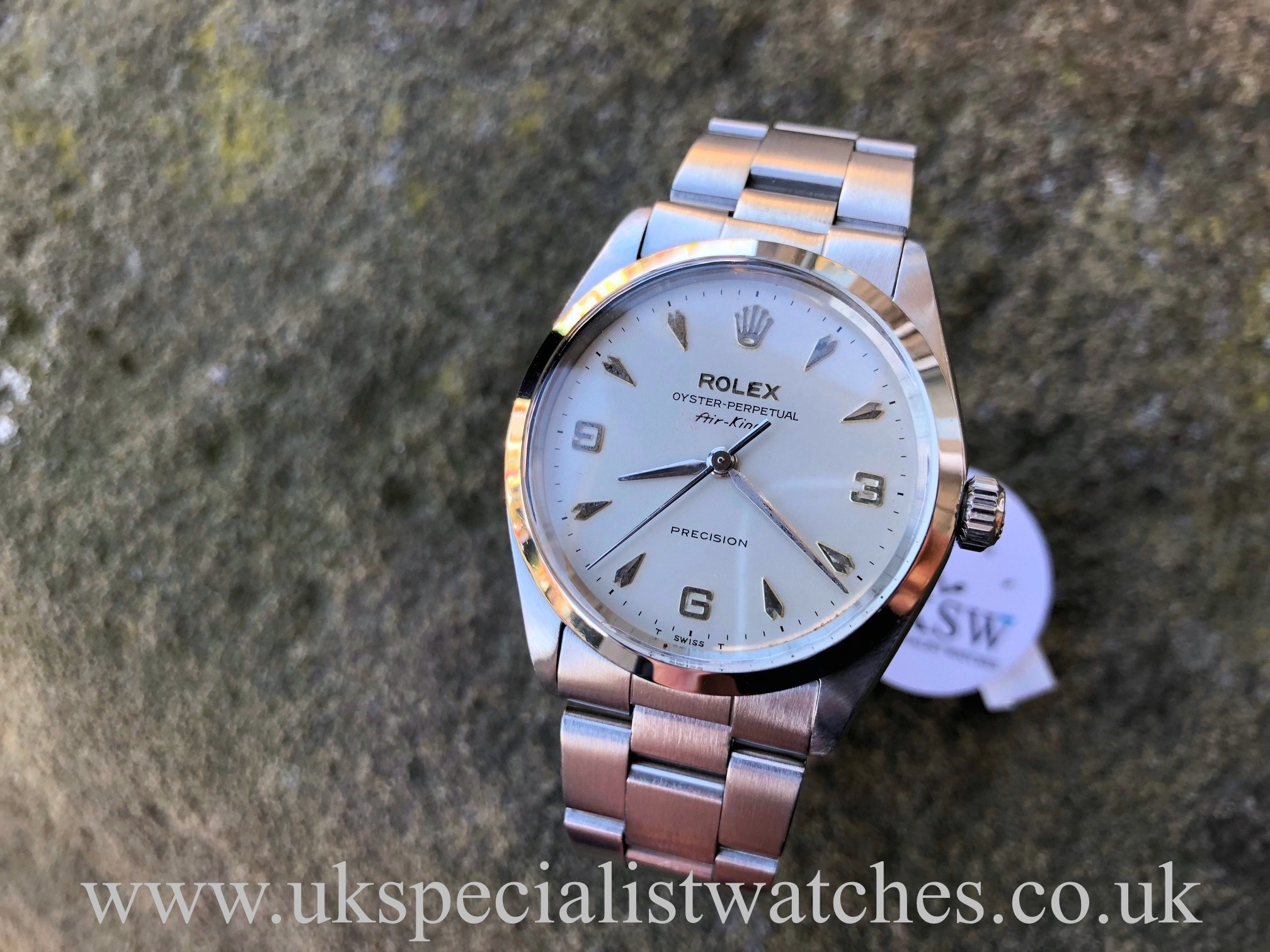Ladies Rolex Watches Uk >> Rolex Air King 5500 3-6-9 – Arrow Head Dial – Vintage 1968 – UK Specialist Watches
