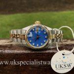 UK Specialist Watches Rolex Datejust 6917 – Blue Diamond Dial - Vintage 1973