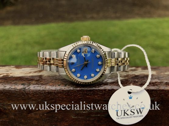 UK Specialist Watches Rolex Datejust 6917 – Blue Diamond Dial - Vintage 1973