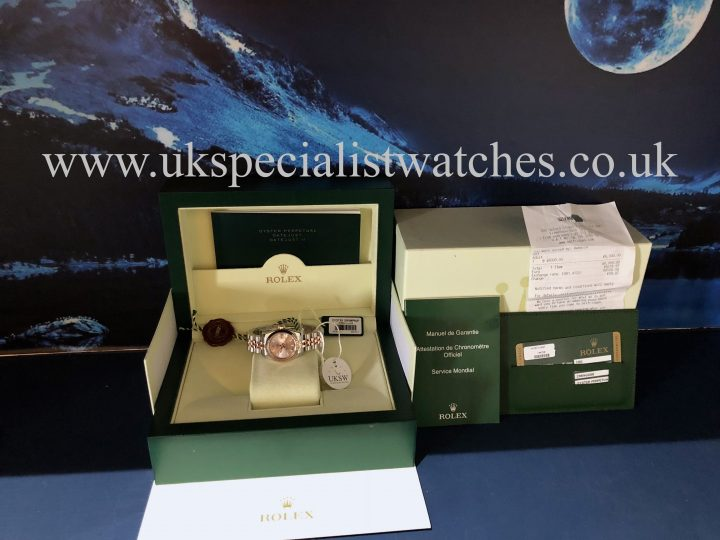 UK Specialist Watches have a Rolex Lady-Datejust – Steel & 18ct Rose Gold – 179171