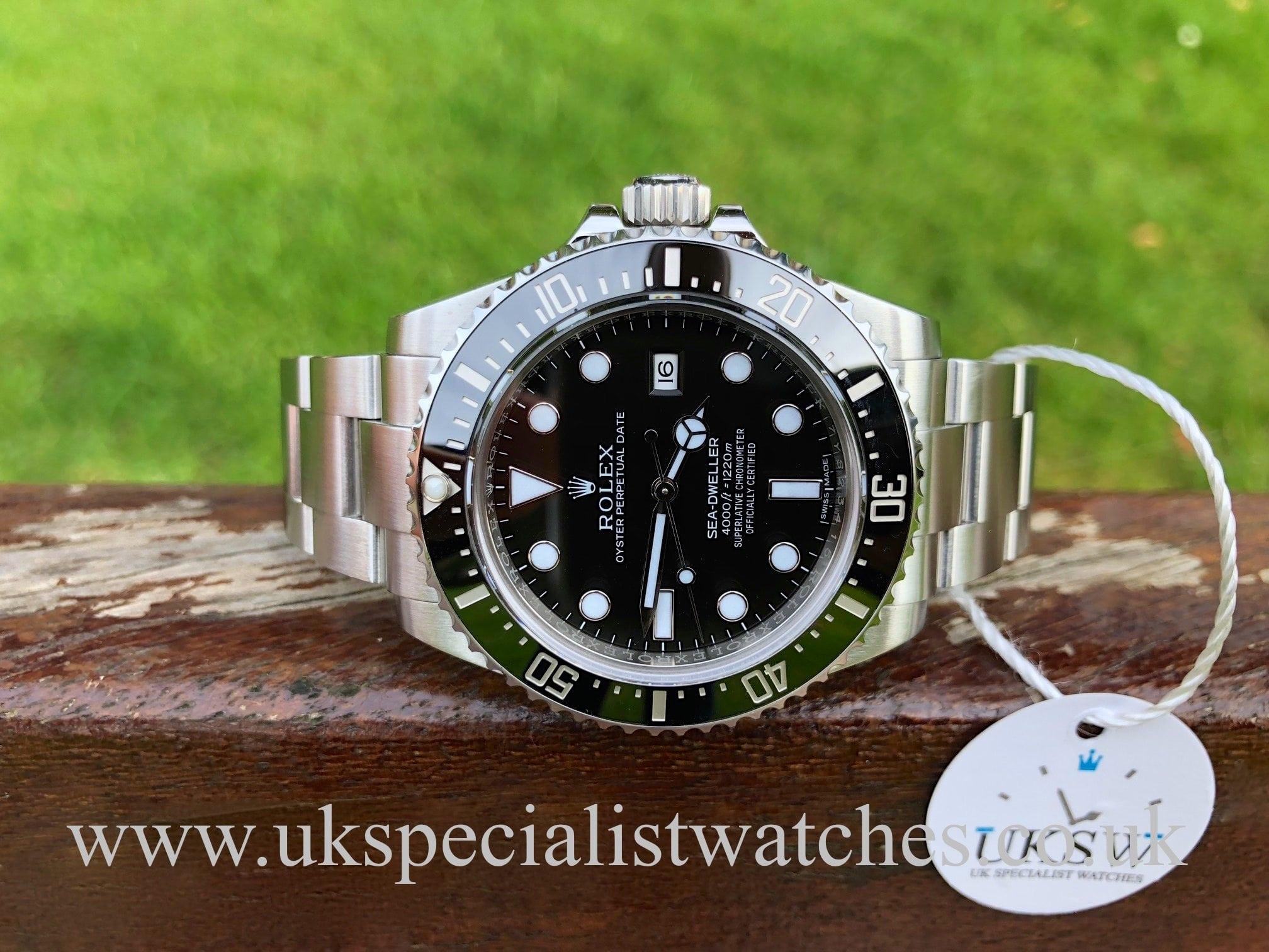 2ddbb167dc9 UK Specialist Watches have a Rolex Sea-Dweller 4000 Ceramic Bezel - 116600  - Full