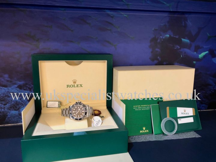 UK Specialist Watches have a Rolex Sea-Dweller 4000 Ceramic Bezel - 116600 - Full Set