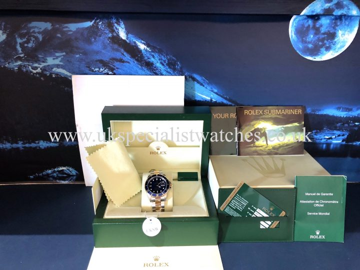 UK Specialist Watches have a Rolex Submariner Steel & 18ct Gold - 16613 - Final Edition