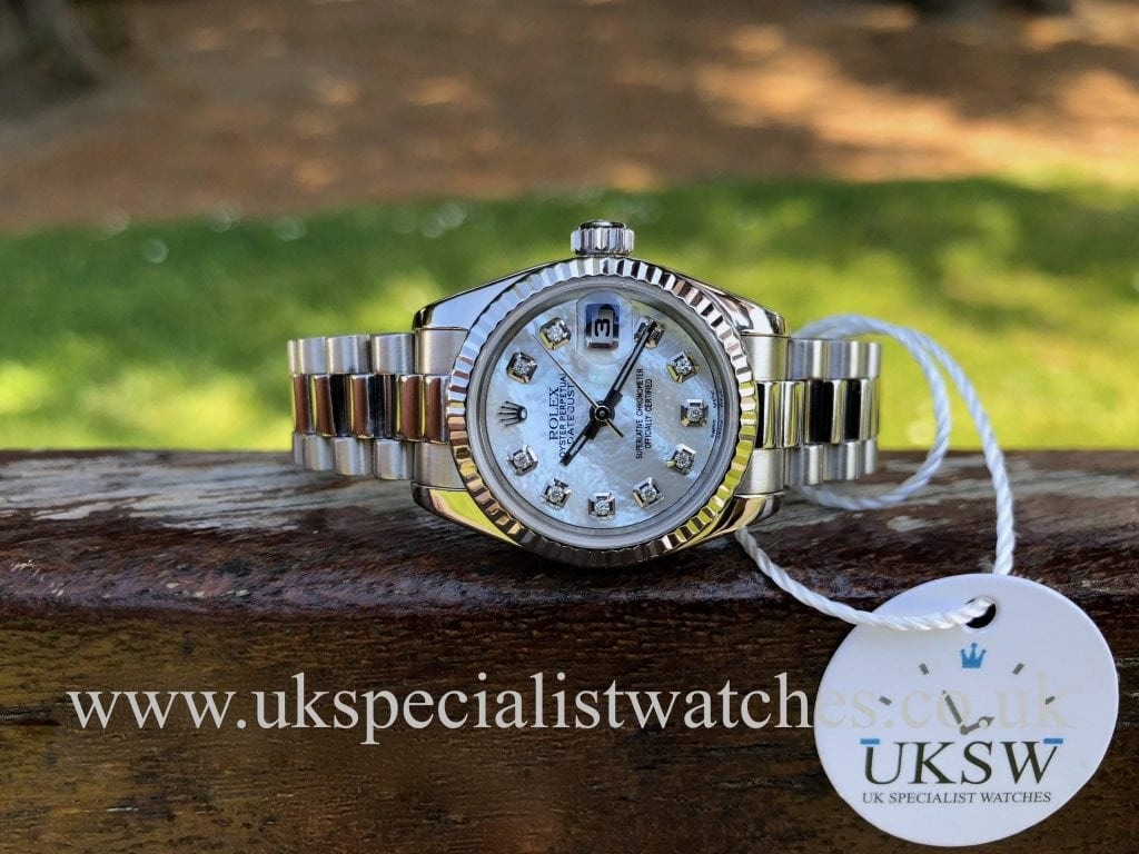 Rolex Datejust 18ct White Gold – MOP Dial – 179179