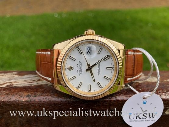 Rolex Datejust Gents 18ct Yellow Gold – White Dial – 116138