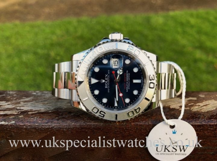 UK Specialist watches have a Rolex Yacht-Master Blue Dial Platinum Bezel – Steel – 116622