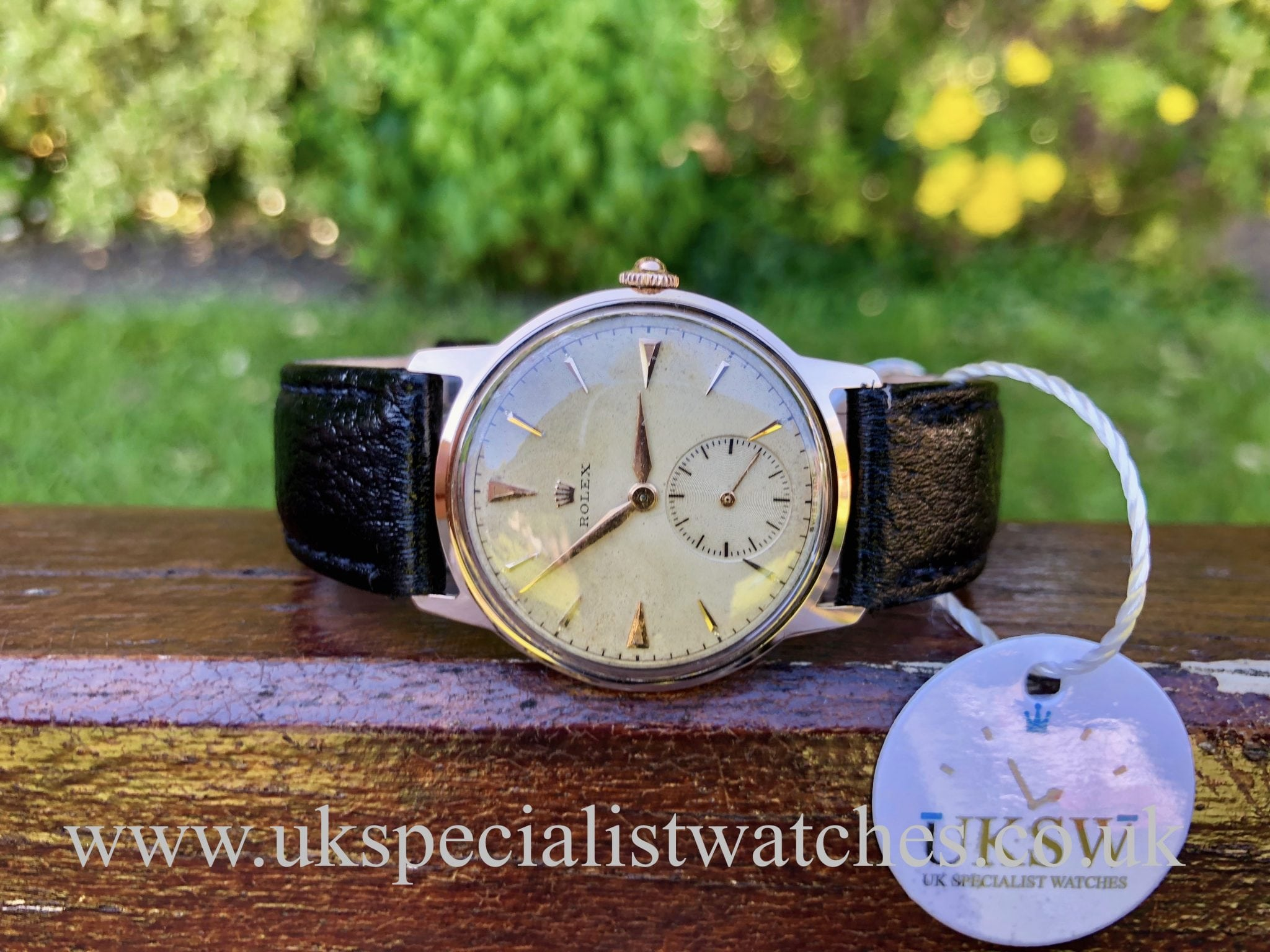 Rolex Gents 18ct Rose Gold Vintage 1950s Uk Specialist Watches