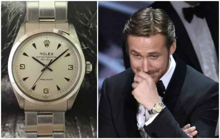 RYAN GOSLING WITH HIS ROLEX AIR-KING 3,6,9 DIAL
