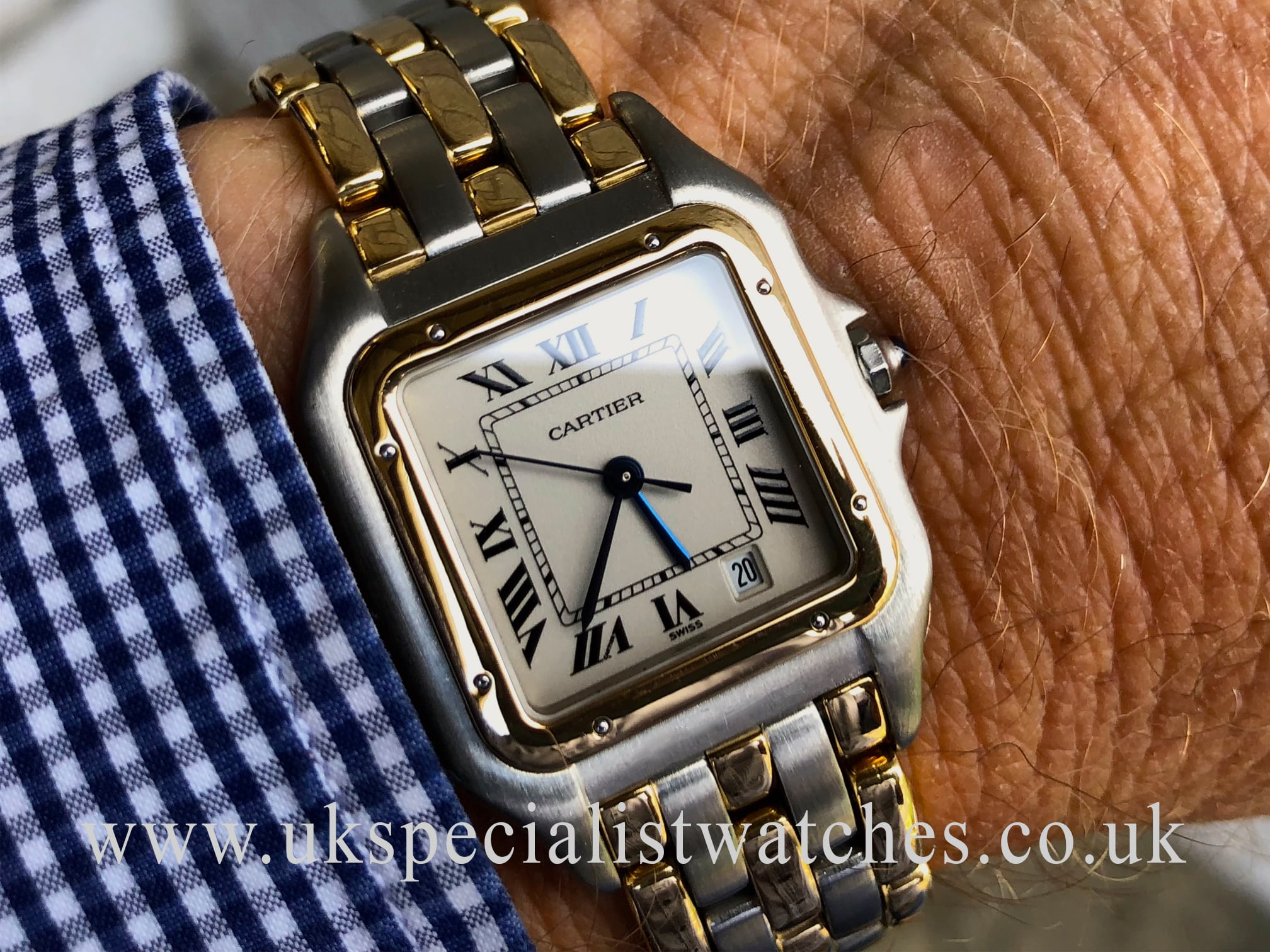 Cartier Panthere Gents Large 18ct Yellow Gold 3 Rows Uk