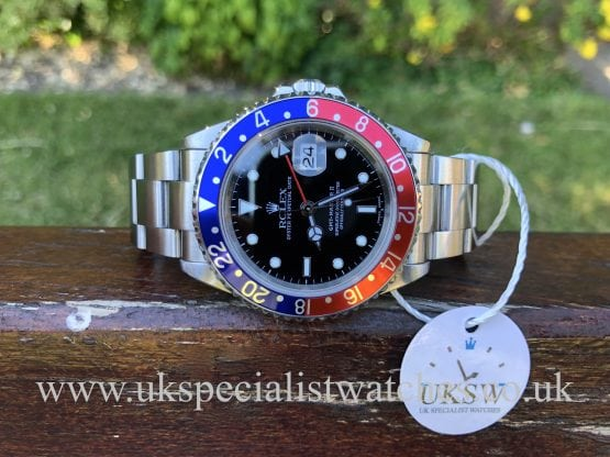 ROLEX GMT MASTER II – PEPSI – STAINLESS STEEL – 16710T