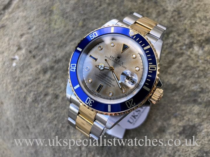 Rolex Submariner Rhodium Serti Dial – 16613 – Steel & 18ct Gold