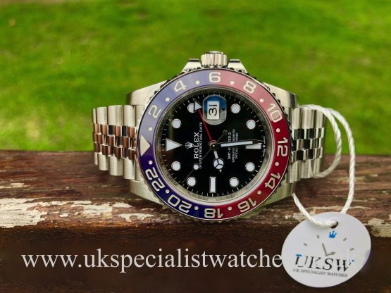 UK Specialist Watches have a ROLEX GMT-MASTER II PEPSI - 126710BLRO - UNWORN STICKERS