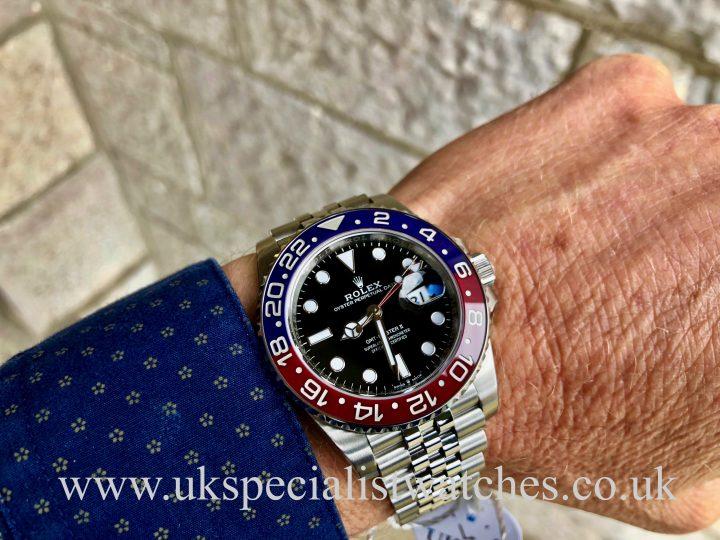 ROLEX GMT-MASTER II PEPSI - 126710BLRO - UNWORN STICKERS