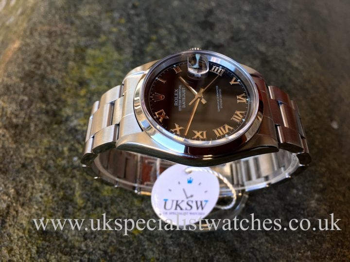 ROLEX DATEJUST STAINLESS STEEL – GREY RHODIUM DIAL – 16200