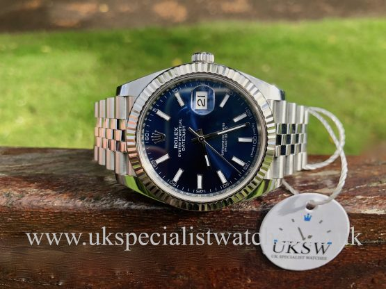 ROLEX DATEJUST 126334 WITH A BLUE DIAL – STAINLESS STEEL