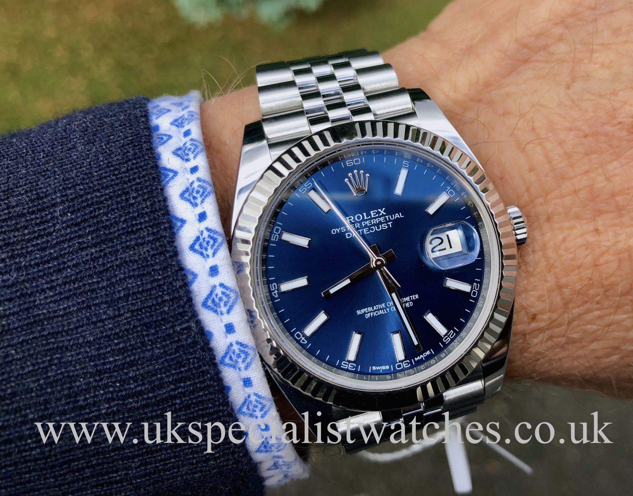 ROLEX DATEJUST 41MM , BLUE DIAL \u2013 STAINLESS STEEL,126334