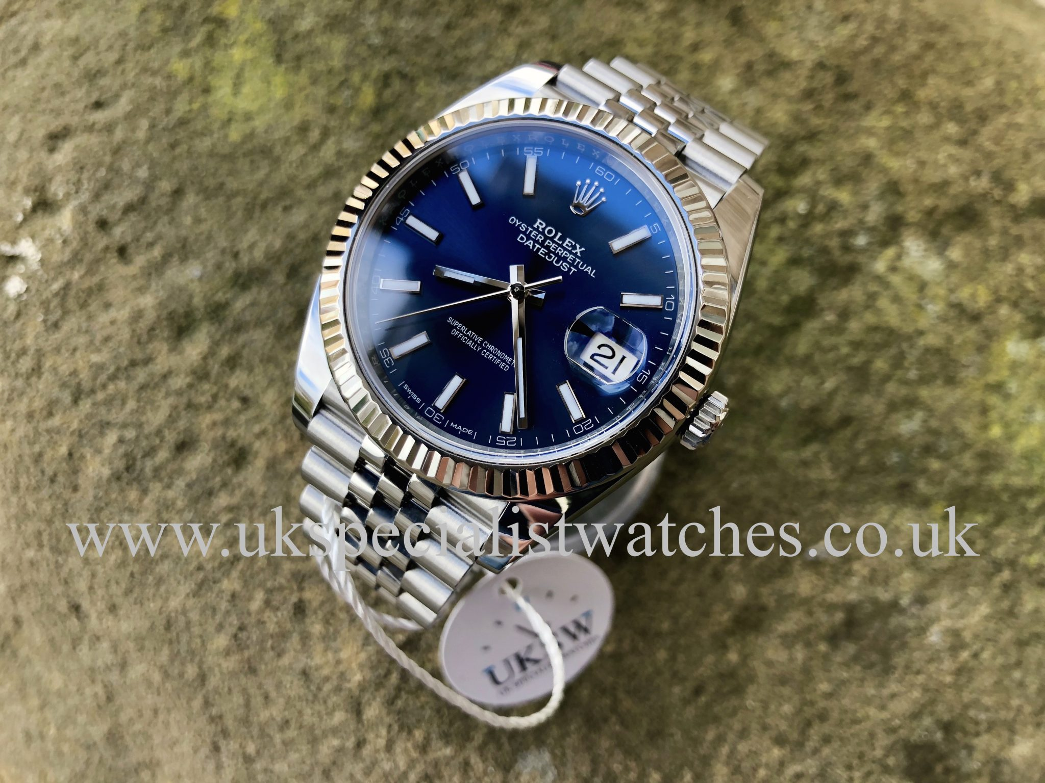 Rolex Datejust 41mm Blue Dial Stainless Steel 126334