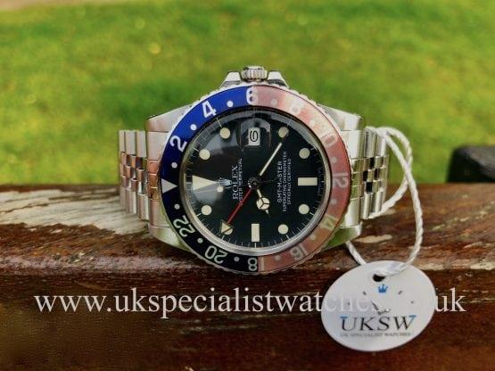 ROLEX GMT PEPSI WITH JUBILEE BRACELET-16750 - VINTAGE