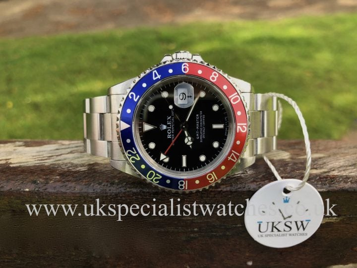 IN STOCK AT UK SPECIALIST WATCHES ROLEX GMT PEPSI 16700- FULL SET